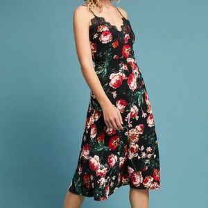 Anthropologie Foxiedoxie mid-length floral dress